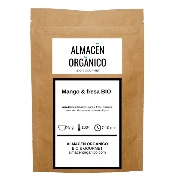 Rooibos mango y fresa ecologico