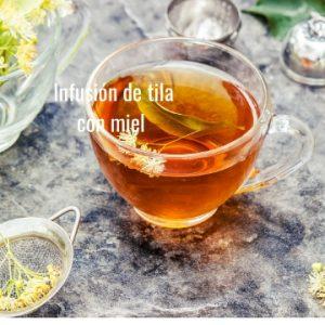 Infusion de tila y miel