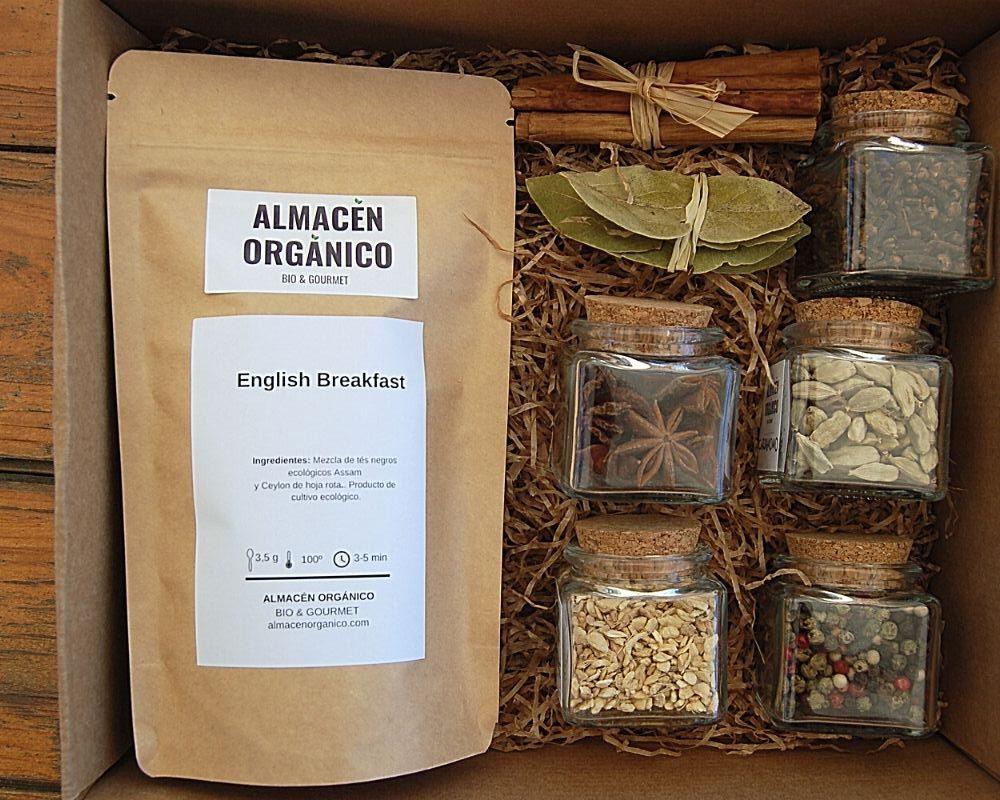 Caja de regalo Chai té negro ecológico